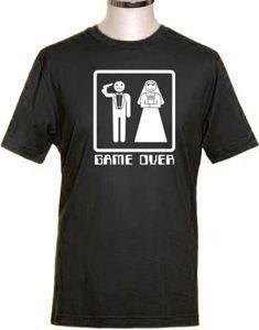 Game over stag party t-shirt