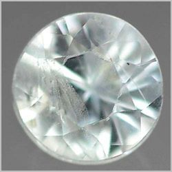 0.25CT UNHEATED! Light Blue SAPPHIRE Ceylon Round 3.7mm