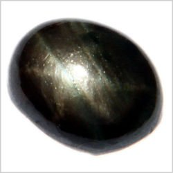 0.77CT OVAL CABOCHON BLACK STAR SAPPHIRE