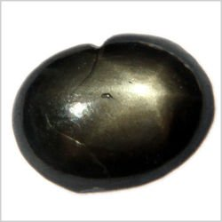 1.00CT OVAL CABOCHON BLACK STAR SAPPHIRE