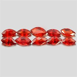 1.26 Ct. 10 Pcs. Marquise Shape Natural Orangish Red Songea Sapphire Tanzania