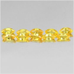 1.47 Ct. 10 Pcs. Lovely Marquise Shape Natural Gems Yellow Songea Sapphire