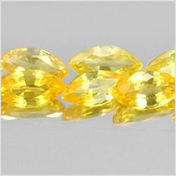 1.57 Ct. 10 Pcs. Nice Marquise Shape Natural Gems Yellow Songea Sapphire