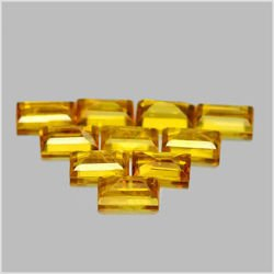 1.74 Ct. 10 Pcs. Nice Natural Gems Yellow Sapphire Baguette Shape