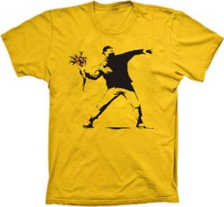 Banksy Flower Thrower tshirt