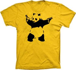 Banksy Panda with guns tshirt