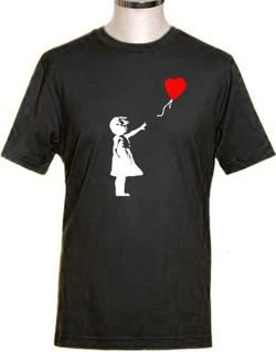 Banksy balloon girl tshirt
